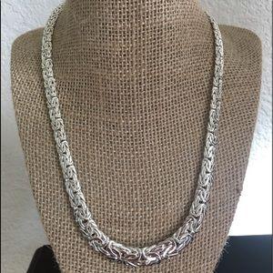 Jewelry - Sterling Silver AK Turkey Byzantine Necklace